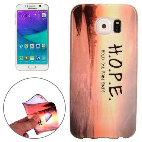 For Galaxy S6 H.O.P.E. Pattern TPU Protective Case