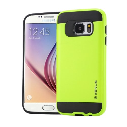 For Galaxy S6 Light Green Brushed Texture PC + TPU Protective Case