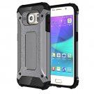 For Galaxy S6 Grey Tough Armor TPU + PC Combination Case