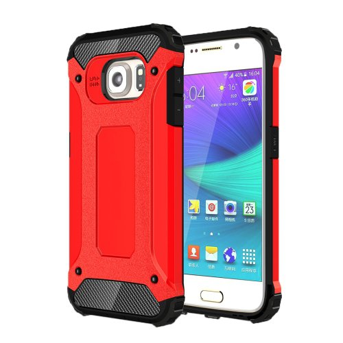 For Galaxy S6 Red Tough Armor TPU + PC Combination Case