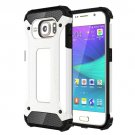 For Galaxy S6 White Tough Armor TPU + PC Combination Case