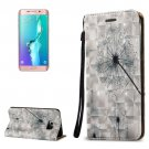 For Galaxy S6 Edge+ 3D Dandelion Leather Case with Holder, Card Slots & Lanyard