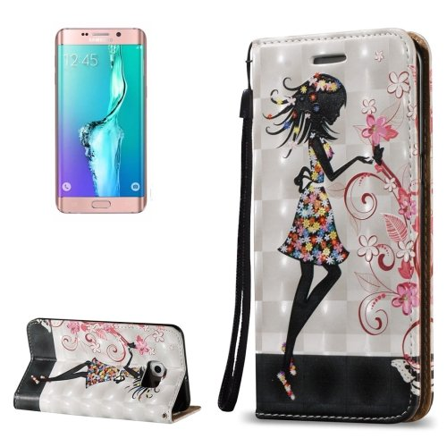 For Galaxy S6 Edge+ 3D Fairy Leather Case with Holder, Card Slots & Lanyard