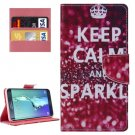 For Galaxy S6 Edge+ SPARKLE Pattern Leather Case with Holder, Card Slots & Wallet