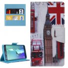 For Galaxy S6 Edge+ London Pattern Leather Case with Holder, Card Slots & Wallet
