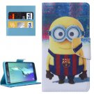 For Galaxy S6 Edge+ Minion Pattern Leather Case with Holder, Card Slots & Wallet