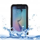 For Galaxy S6 Edge+ Black IP x 8 PVC + Silicone Waterproof Case with Lanyard
