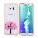 For Galaxy S6 Edge+ Cherry Blossom Flower Pattern Plastic Protective Case 8