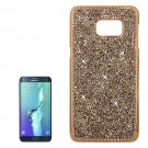 For Galaxy S6 Edge+ Gold Fashionable Electroplating Diamond Hard Case