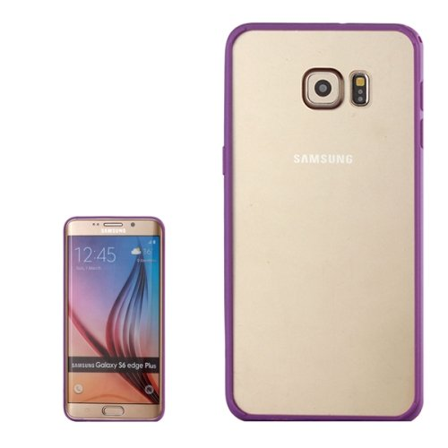 For Galaxy S6 Edge+ Purple Rainbow Series Acrylic and TPU Material Hard Case