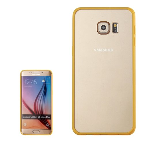 For Galaxy S6 Edge+ Yellow Rainbow Series Acrylic and TPU Material Hard Case
