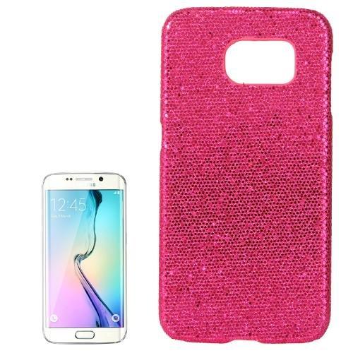 For Galaxy S6 Edge+ Magenta Flash Powder Skin Paste Plastic Protective Case