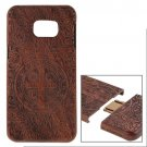 For Galaxy S6 Edge+ Constandine Pattern Separable Rosewood Wooden Case