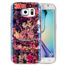 For Galaxy S6 Edge+ IMD Flowers Pattern Blu-ray Soft TPU Protective Case