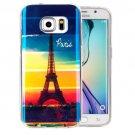 For Galaxy S6 Edge+ IMD Eiffel Pattern Blu-ray Soft TPU Protective Case