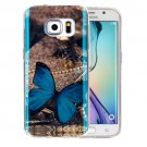 For Galaxy S6 Edge+ IMD Butterfly Pattern Blu-ray Soft TPU Protective Case