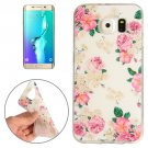 For Galaxy S6 Edge+ Flowers Pattern TPU Protective Case