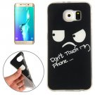 For Galaxy S6 Edge+ Eyes and Words Pattern TPU Protective Case