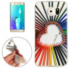 For Galaxy S6 Edge+ Color Pencil Pattern TPU Protective Case