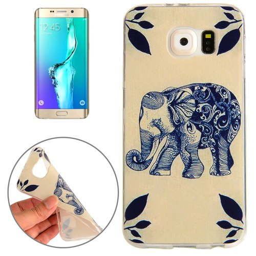 For Galaxy S6 Edge+ Elephant Pattern TPU Protective Case