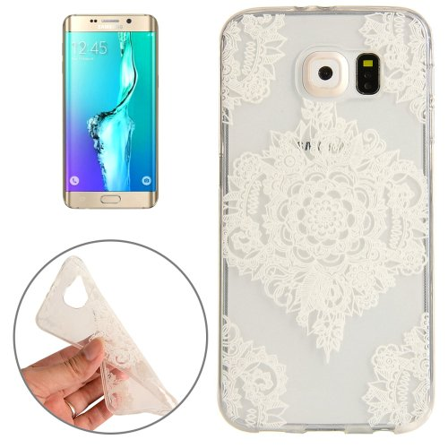 For Galaxy S6 Edge+ Flower Pattern TPU Protective Case