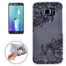 For Galaxy S6 Edge+ Ultrathin Flowers Pattern TPU Protective Case