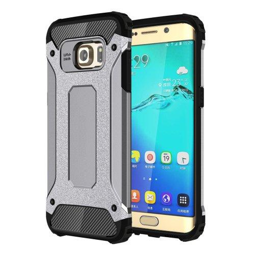 For Galaxy S6 Edge+ Grey Tough Armor TPU + PC Combination Case