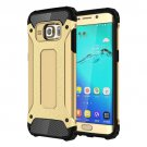 For Galaxy S6 Edge+ Gold Tough Armor TPU + PC Combination Case