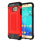 For Galaxy S6 Edge+ Red Tough Armor TPU + PC Combination Case