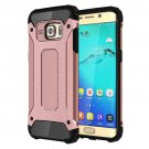 For Galaxy S6 Edge+ Rose Gold Tough Armor TPU + PC Combination Case