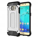 For Galaxy S6 Edge+ Silver Tough Armor TPU + PC Combination Case