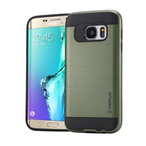For Galaxy S6 Edge+ Army green Brushed Texture PC + TPU Protective Case