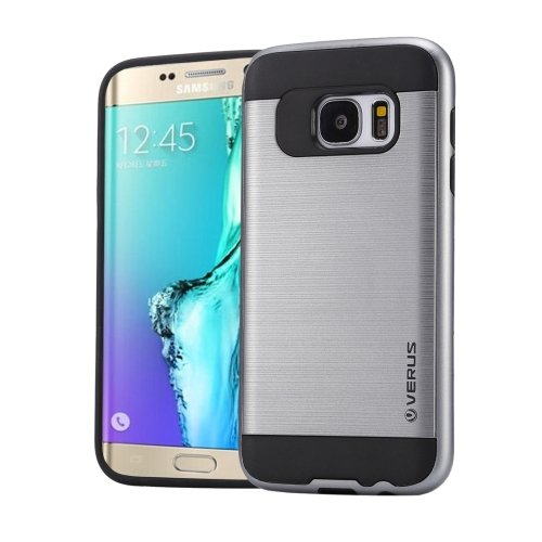 For Galaxy S6 Edge+ Grey Brushed Texture PC + TPU Protective Case