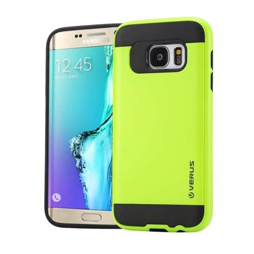 For Galaxy S6 Edge+ Light Green Brushed Texture PC + TPU Protective Case