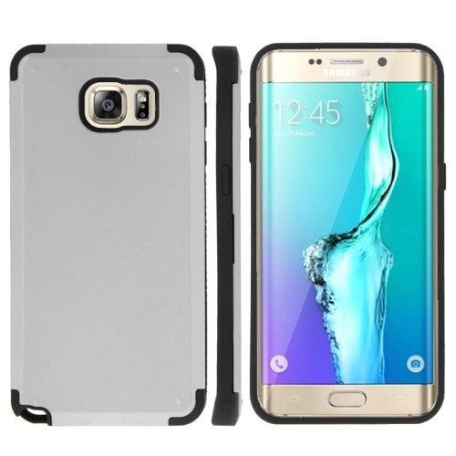 For Galaxy S6 Edge+ Silver PC + TPU Combination Case