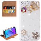 For Galaxy Note 5 Crown Diamond Leather Case with Holder & Card Slots