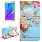 For Galaxy Note 5 Shell Diamond Leather Case with Holder, Wallet & Card Slots