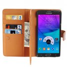 For Galaxy Note 5 Brown Crazy Horse Case with Card Slots, Wallet & Holder