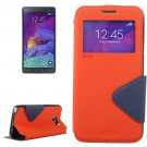 For Galaxy Note 5 Orange Cross Flip Leather Case with Holder & Card Slot