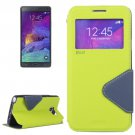 For Galaxy Note 5 Green Cross Flip Leather Case with Holder & Card Slot