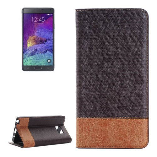 For Galaxy Note 5 Black Cross Leather Case with Card Slots, Holder & Wallet
