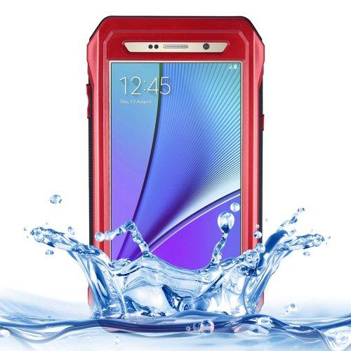 For Galaxy Note 5 Red Riyo IP68 Waterproof Shockproof Dustproof Case..