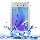 For Galaxy Note 5 Silver Riyo IP68 Waterproof Shockproof Dustproof Case..