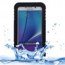 For Galaxy Note 5 Black IP x 8 PVC + Silicone Waterproof Case with Lanyard