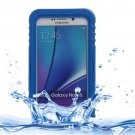 For Galaxy Note 5 Dark Blue IP x 8 PVC + Silicone Waterproof Case with Lanyard
