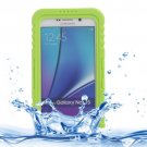 For Galaxy Note 5 Green IP x 8 PVC + Silicone Waterproof Case with Lanyard
