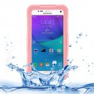 For Galaxy Note 5 Pink IPX8 TPU + PC Waterproof Case with Lanyard