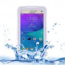 For Galaxy Note 5 White IPX8 TPU + PC Waterproof Case with Lanyard