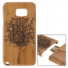 For Galaxy Note 5 Tree Pattern Separable Bamboo Wooden Case