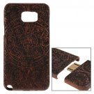For Galaxy Note 5 Maya Pattern Separable Rosewood Wooden Case